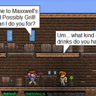 Maxxwell's bar and possibly a grill in village