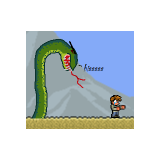 Desert python in the desert