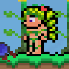 June, the Queen of Dryads and a warrior