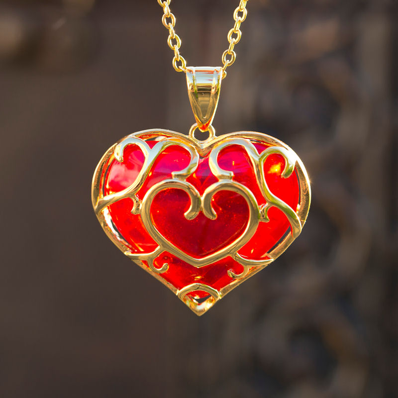 heart pendant fashion jewelry necklace in love product legend of dark hollow zelda glow