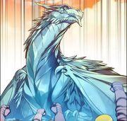 Ice dragoon sculpture