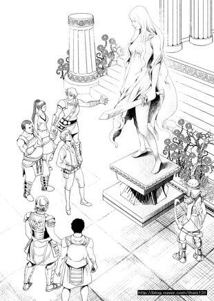 Statue of Goddess Freya