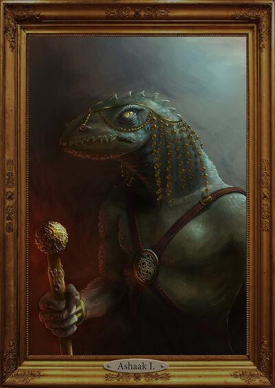 Lizard lord portrait