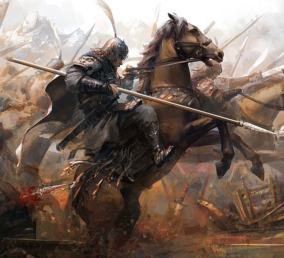 Warriors Of The Dawn Synopsis: Image - Spear Charging Knight.jpg
