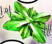 Jewel green sculpture