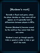 Murderer's mark Info