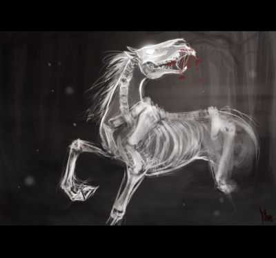 Ghost horse by devilchery