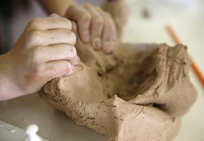 Sculptors hands