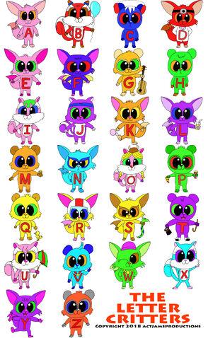 Letter Critter Character List