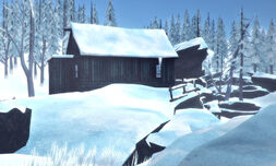 Hütte des Pelzjägers Rückseite