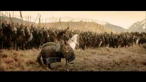Lord of the Rings- Rohan helping Gondor on The Return of the King big battle