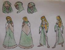 Cassandra Upperton, Cloak and Formal Dress