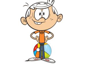Lincoln Loud Sitting On Beach Ball Until It Pops