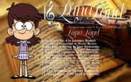 Luna Loud in Classical Symphony CD back cover
