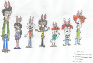 Bobby, Ronnie Anne, Lincoln, Clyde, Liam, Zach, and Rusty as Rabbits