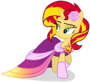 Sunset shimmer in gala dress by melspyrose111-dbfd7ge