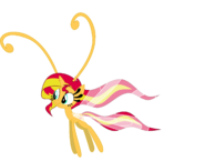 605887 safe solo simple+background vector transparent+background sunset+shimmer species+swap breezie breeziefied artist-colon-kaylathehedgehog