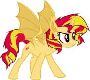 Sunset as Bat Pony