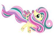 Rainbow power fluttershy by ashidaru-d7i0ixb
