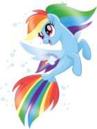 MLP The Movie Seapony Rainbow Dash official artwork