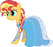 Sunset shimmer as elsa