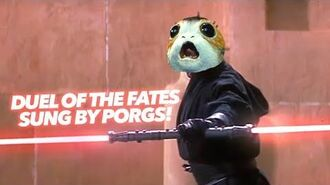 Duel Of The PORGS - Made With Porg Sounds!