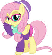 Mlp vector fluttershy 8 hipstershy by jhayarr23-dc87yok