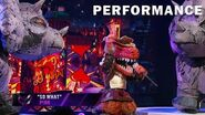 "T-Rex sings ""So What"" by P!nk THE MASKED SINGER SEASON 3"