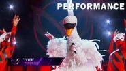 "Swan sings ""Fever"" by Peggy Lee THE MASKED SINGER SEASON 3"