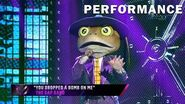 "Frog sings ""You Dropped a Bomb on Me"" by The Gap Band THE MASKED SINGER SEASON 3"