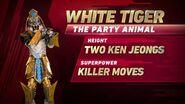 White Tiger's stats