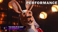 """Kangaroo sings """"You Know I'm No Good"""" by Amy Winehouse THE MASKED SINGER SEASON 3"""