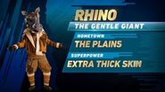 Rhino's stats