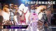 """Group A sings """"Rock And Roll All Nite"""" by KISS THE MASKED SINGER SEASON 3"""