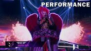 """Night Angel sings """"Rise Up"""" by Andra Day THE MASKED SINGER SEASON 3"""