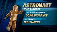 Astronaunt's stats