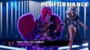 "Night Angel sings ""Man! I Feel Like A Woman"" by Shania Twain THE MASKED SINGER SEASON 3"