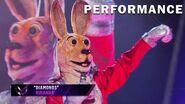 "Kangaroo sings ""Diamonds"" by Rihanna THE MASKED SINGER SEASON 3"