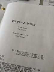 Scorch Trials screenplay