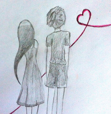 Image Drawing Of A Boy And Girl In Love Easy I Love You C2b7