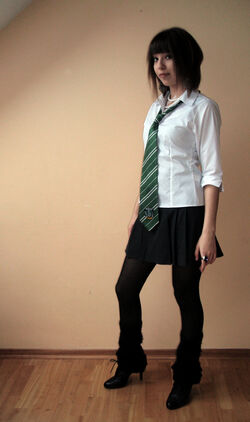 Slytherin girl by annline