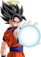 Goku about to do a kamehahmeha