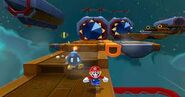 Mario dodging some bullet bills
