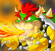 Fire breathing bowser by dry rowseroopa-d6897o4