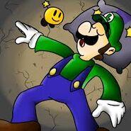 Luigi sleeping