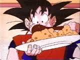 Goku eating 2