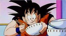 Goku eating 3