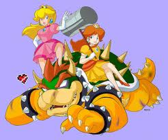 File:Peach and daisy beat up bowser.jpg