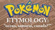 Pokemon Etymology - Oshawott