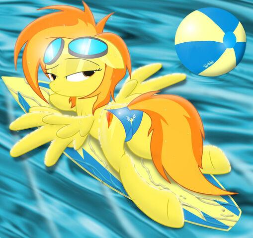 File:Spitfire on her surfboard in a bikini by spitshy-d4tksrq.jpg